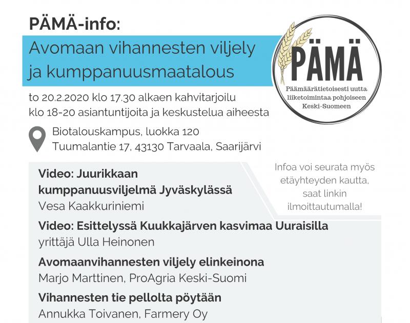 PÄMÄ-info to 20.2.2020 klo 17.30