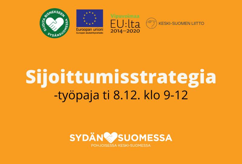 Sydänsuomessa: Alueelle työstetään sijoittumisstrategiaa 8.12. klo 9-12