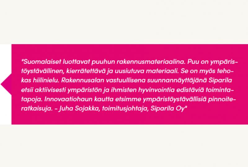 BioPaavo: SiparilaHackathon 25.3. – haussa ekologisesti kestäviä ratkaisuja puun teolliseen pintakäsittelyyn